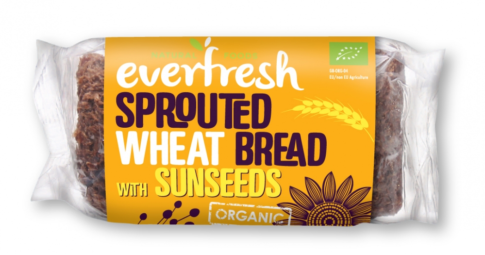 Sunseed Bread - Sprouted Wheat Bread with Flax and Sunflower Seeds