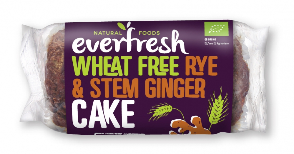 Wheat Free Rye & Stem Ginger Cake