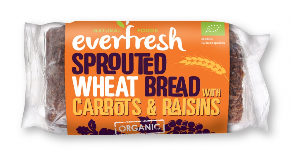 Carrot & Raisin Bread - Sprouted Wheat Bread with Carrots & Raisins