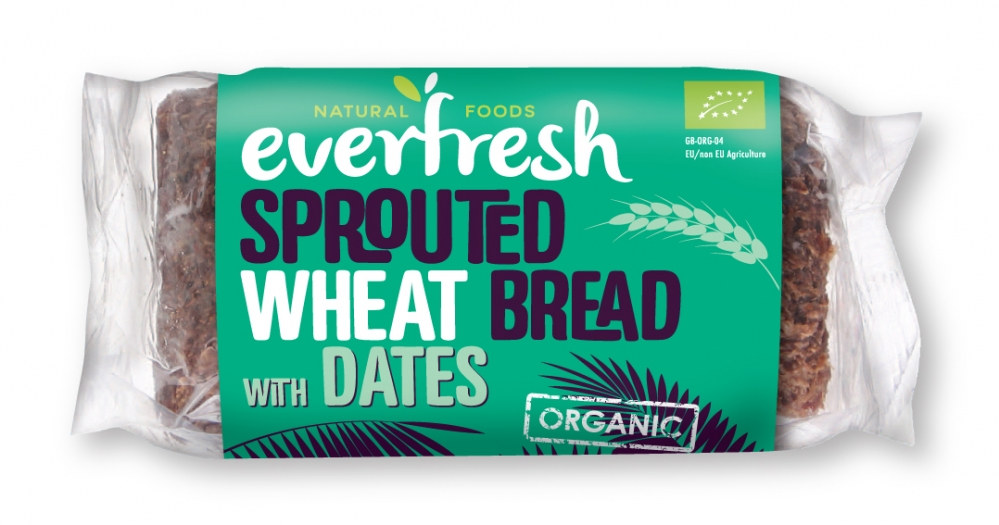 Date Bread - Sprouted Wheat Bread with Dates