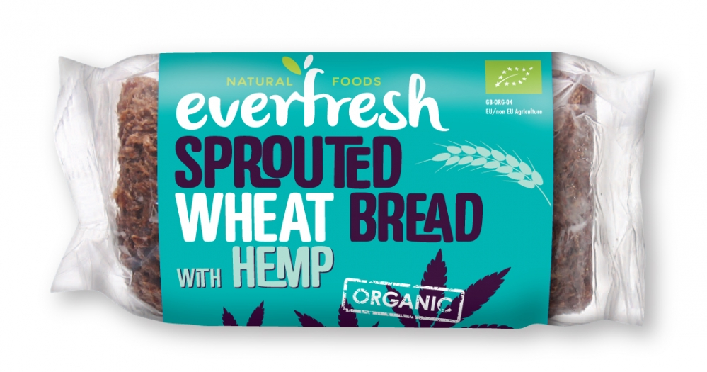 Hemp Bread - Sprouted Wheat Bread with Hemp Seeds